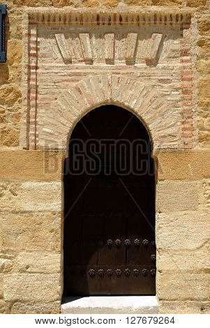 Doorway at the side of the Giants arch (Arco de los Gigantes) Antequera Malaga Province Andalucia Spain Western Europe.