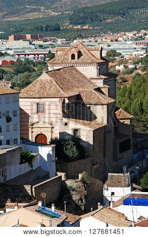 Elevated view of Carmen church Antequera Malaga Province Andalucia Spain Western Europe.