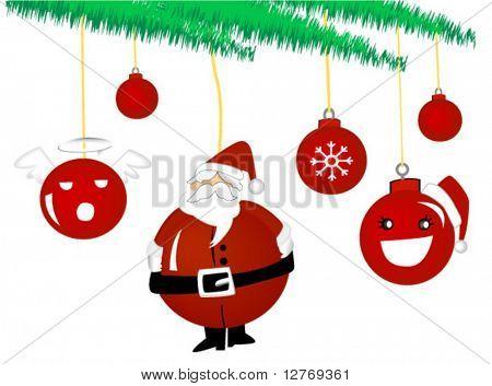 Christmas baubbles - Vector