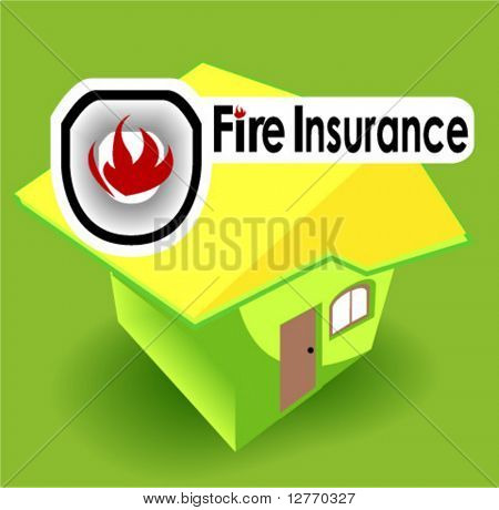 Fire Insurance Icon - Vector