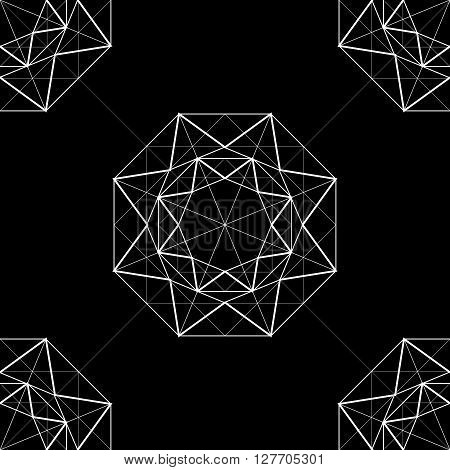 black abstract background with  abstract  diamond. vector.