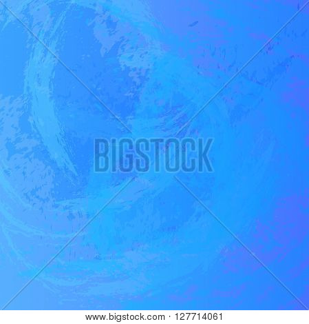 Abstract background. The surface stained with paint. Carelessly painted wall. Vector illustration. Blue colors