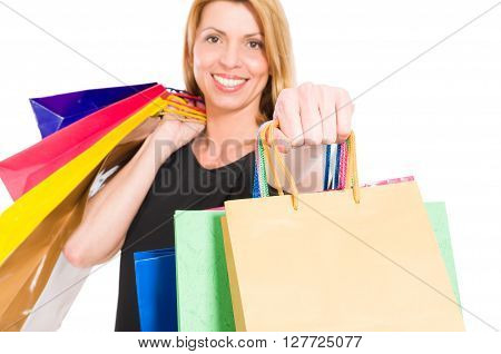 Confident Shopping Woman