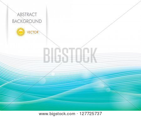 Abstract ecology green wave background.