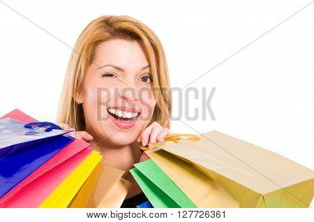 Shopping Woman Winking