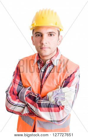 Confident Builder Crossing Arms