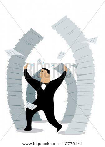Business Concepts: Job Stress - Vector