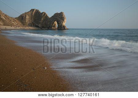 Beach at Durdle Door, Dorset, England, UK