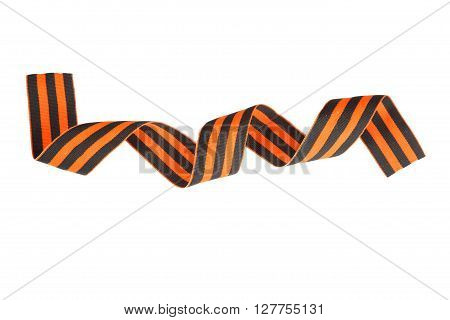 Symbols Of Victory In Great Patriotic War St. George's Ribbon Isolated On A White Background