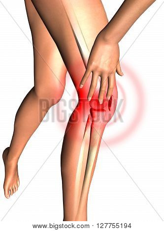 Leg, knee pain health 3D render cover 3D Rendering