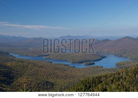 Lake Placid View From Top Of Whiteface Mountain
