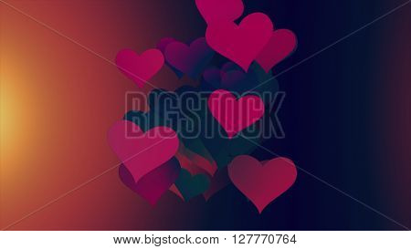 Background Hearts