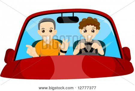 Student Driver - Vector