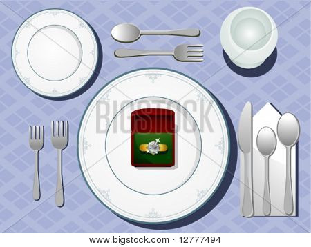 Table Setting - Vector