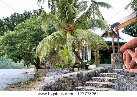 A small guest house to rest . Philippines. Palawan Island .
