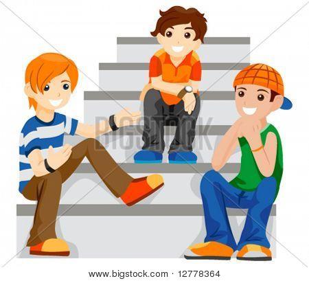 Teenage Boys - Vector