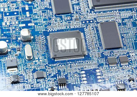 Closed up printed circuit board with electronics components