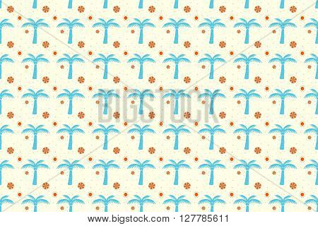 Coconut Seamless Pattern Background. Coconut Pattern Design. Vector Stock.