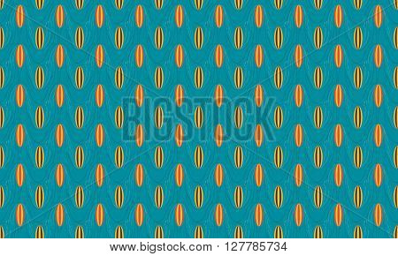 Wave Board Retro Seamless Pattern Background. Summer Pattern Design. Vector Stock.