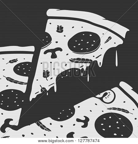 Vector Emblem Pizza eps 8 file format