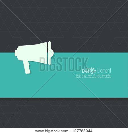 Megaphone, loudspeaker with copy space. for social media marketing concept. Notification through the speaker, advertisement bullhorn.