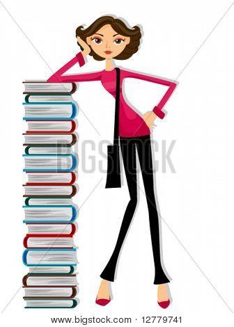 Girl Student - Vector
