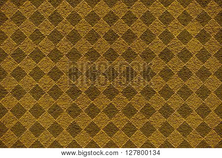Golden Revetment Wall Putty Macro Texture Background Rhombus Styled