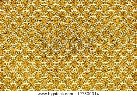Golden Revetment Wall Putty Macro Texture Background White Ornamental Styled
