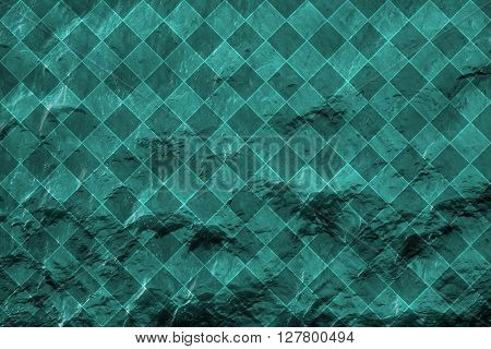 Blue Water With Sun Reflections Background Texture Rhombus Styled