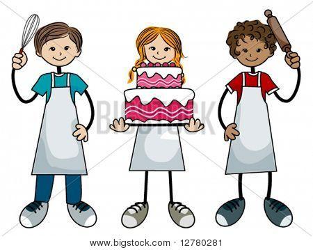 Baking Kids - Vector