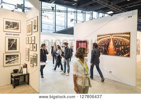 People Visiting Mia 2016 In Milan, Italy