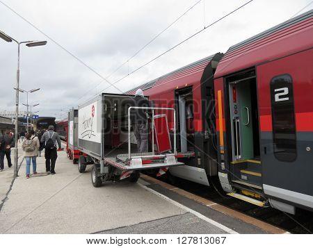 Austrian Train In A Station