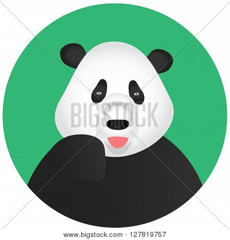 Panda icon mobile app. Panda bear and baby panda panda vector and animal cute panda. Vector flat design illustration