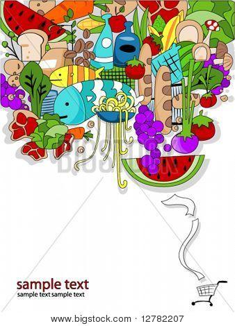 Food Shopping Design - Vector