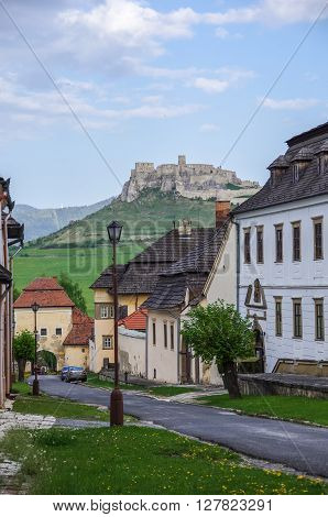 Iew Of Spis Castle From Main Street O Spisska Kapitula, Slovakia