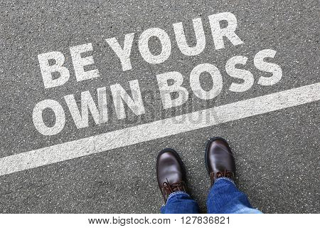 Self-employed self employed employment be your own boss businessman business man concept poster