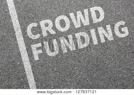 Crowd Funding Crowdfunding Collecting Money Online Financial Investment Internet Business Concept