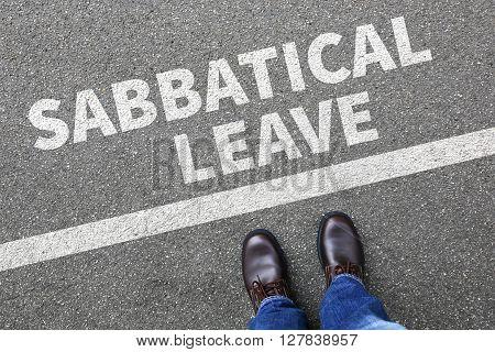 Sabbatical Leave Break Sabbath Job Stress Burnout Businessman Business Concept