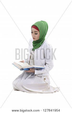 Muslim Woman Reading Koran