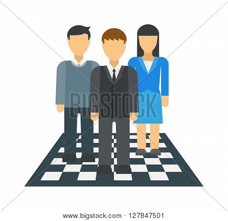 Large business dream team isolated over white background people group teamwork vector. Team dream people group teamwork and team dream. Businessman manager team dream. Friendly business dream concept.