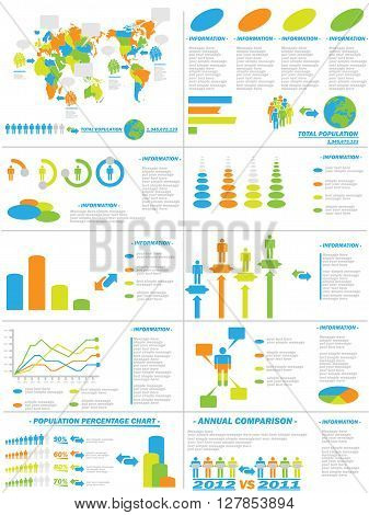 INFOGRAPHIC DEMOGRAPHICS WEB ELEMENTS  for web and other