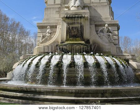 Fountain In Plaza Espana, Madrid