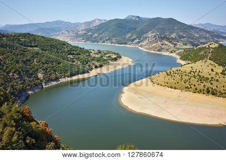 Panorama of Arda River  and Kardzhali Reservoir, Bulgaria