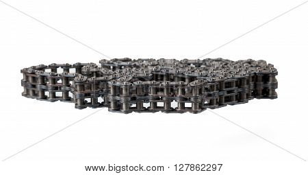 Chain drive the main distribution mechanism. Isolated on white background