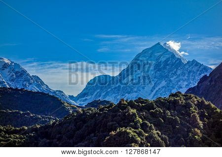 Mount Cook in Aoraki National Park southern island of New Zealand