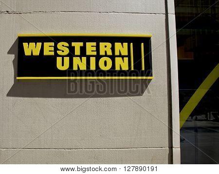 Western Union, New York City, USA. Photo taken on: April 15th, 2016.