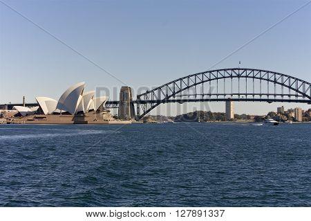 SYDNEY, AUSTRALIA - AUGUST 01 : Sydney famous attraction in the city of Sydney. 01 August 2009 in Sydney, Australia. A famous tourist attraction and popular landmark