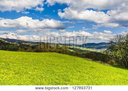 Landscape Of The Beskid Mountains.