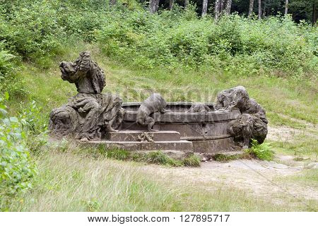 Jacobs Fountain - Bethlehem of Braun or Kusk Forest Sculptures