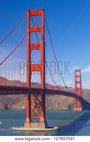 The Golden Gate Bridge in San Francisco bay